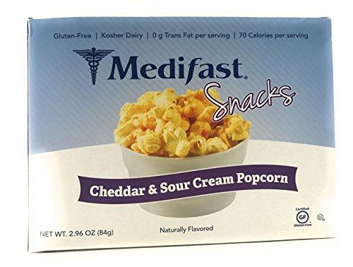 Medifast Snacks Cheddar   Sour Cream Popcorn  1 Box 7 Servings