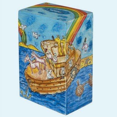 Yair Emanuel horno Arca pintado a mano caja de caridad/madera Rectangular tzedaká