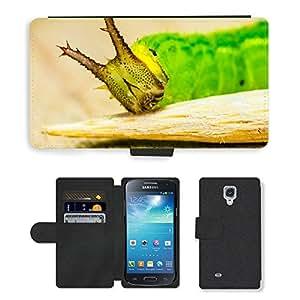 CARD POCKET BOOK CASE PU LEATHER CASE // M00148586 Detalle de Caterpillar Green Head // Samsung Galaxy S4 Mini i9190