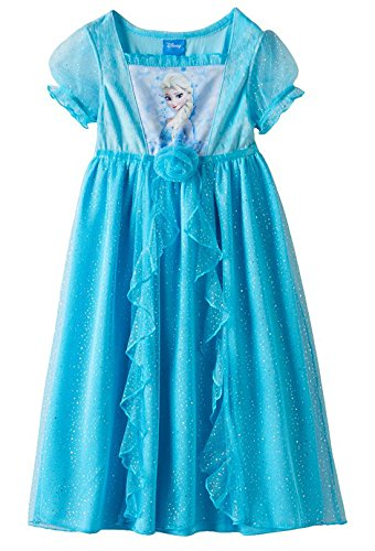 Disney Frozen Elsa Girls Night Gown Size 4T Blue (Disney Frozen Gowns)