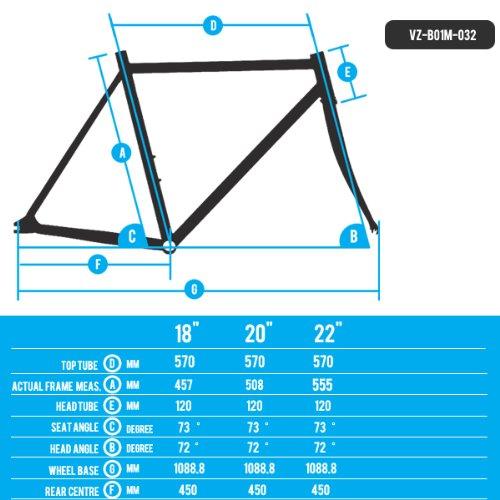 Venzo Mountain Bike Bicycle MTB Alloy Frame 29er