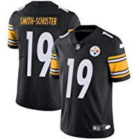 NFL Rugby Jersey Steelers 19# Smith-Schuster Hombre Summer Rugby Fan Manga Corta Camisetas Casuales Ropa Top