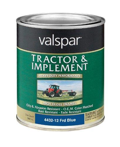 Blue Heavy Duty Paint - Valspar 4432-12 Ford Blue Tractor and Implement Paint - 1 Quart