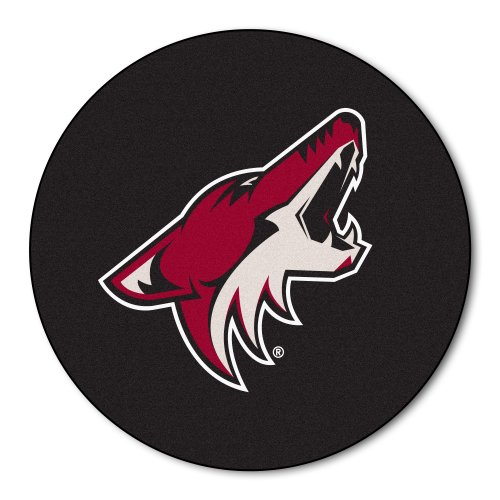 (FANMATS NHL Phoenix Coyotes Nylon Face Hockey Puck Rug)