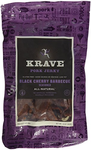 Krave Black Cherry BBQ Pork Jerky (VALUE 2-pack of LARGE 16-Ounce Bags)