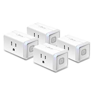 Kasa Smart WiFi Plug Lite by TP-Link (4-Pack) 12 Amp, Reliable Wifi Connection, No Hub Required, Works with Alexa Echo & Google Assistant (HS103P4)