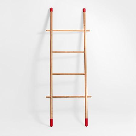 QFFL Escudo y Sombrero Rack de Madera Maciza Tipo de Escalera Simple Estante de la casa Soporte de la Capa suspensión de la Pared (Tamaño : 66 * 160CM): Amazon.es: Hogar