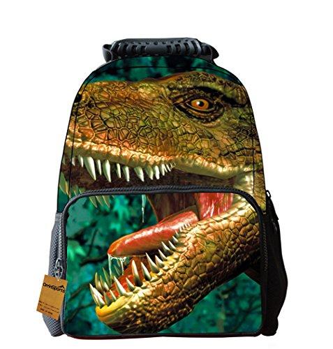 OrrinSports Felt Fabric School Backpack Bags 3D Animal Print Cute Hiking Daypacks Dinosaur-16