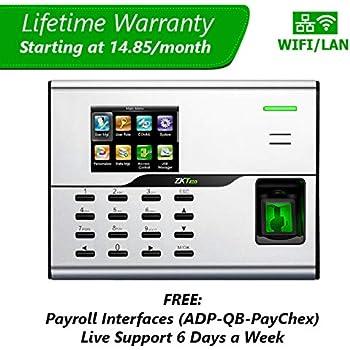 Amazon com : Biometric Employee Payroll Fingerprint Time