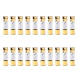Areyourshop 20Pcs AGU Fuse Car Audio Power Safety Protection Glass Tube Gold Plated 100A