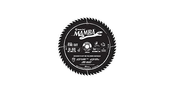Amana Tool MA8560 Carbide Tipped Thin Kerf Fine Cut Mamba Contractor Series 8-1/2 Inch D x 60T, ATB+F, 8 Deg, 5/8 Bore Circular Saw Blade - Circular Saw ...