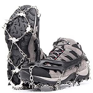 Greatever アイゼン スノー アイス スパイク 靴底用 滑り止め 転倒防止 チェーンアイゼン