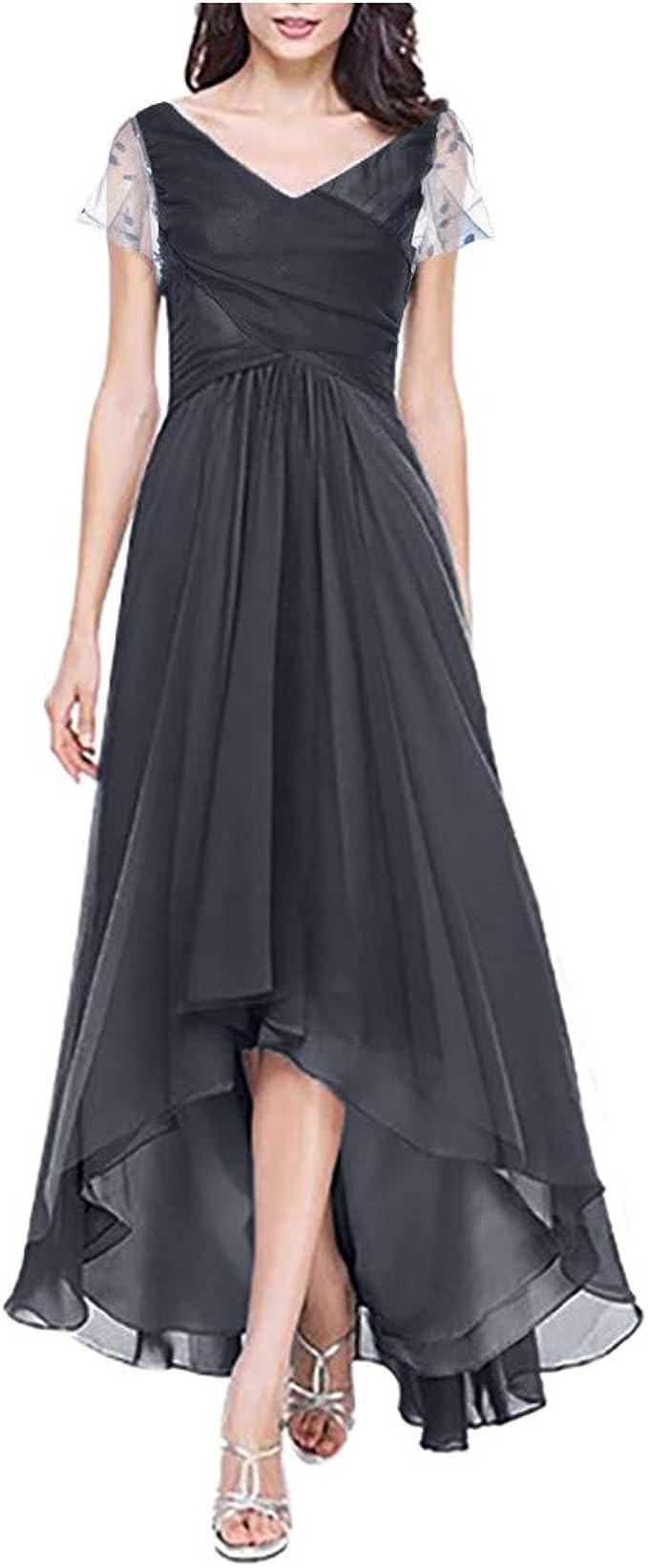 LOPILY Abendkleid Damen Große Größen mit Spitzenärmel
