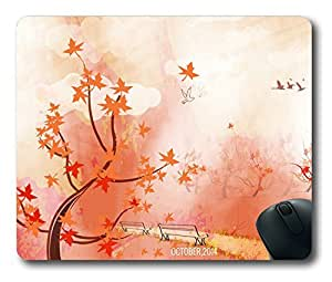 Autunm landscape Easter Thanksgiving Personlized Masterpiece Limited Design Oblong Mouse Pad by Cases & Mousepads