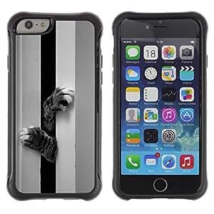 Suave TPU GEL Carcasa Funda Silicona Blando Estuche Caso de protección (para) Apple Iphone 6 PLUS 5.5 / CECELL Phone case / / Kitten Cat Paws Cute Black White Pet /