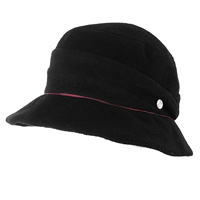 f0f7beffd4c5f6 SIGGI Wool Felt Cloche Hat for Women Winter Hat Black Ladies 1920s Vintage  Derby Church Bowler Bucket Hat Crushable: Amazon.ca: Clothing & Accessories