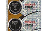 2 MAXELL CR2025 3 Volt Lithium Batteries (2 Batteries) Hologram Package EXP: 2020