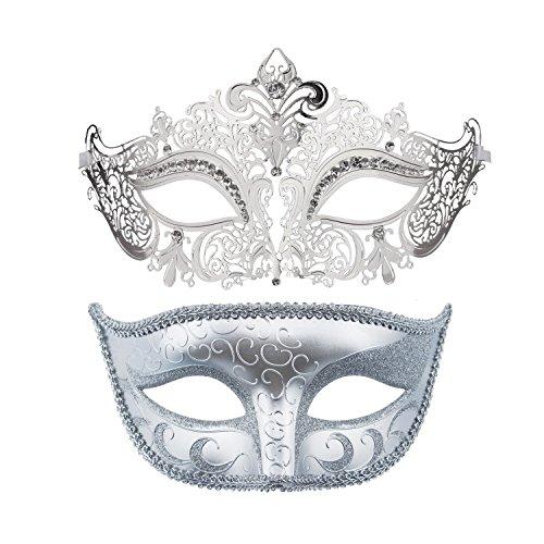 Couple's Mardi Gras Party Mask Venetian Masquerade Masks Halloween Costume Mask