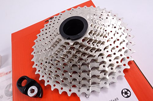 Sunrace 11-speed 11-40T ROAD cassette freewheel CSRX8 wide ratio with rear derailleur extender by JGbike (Road Titanium Bicycle Cassette)