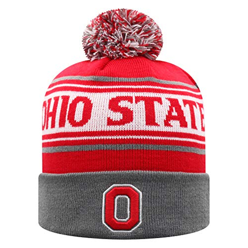 Top of the World Ohio State Buckeyes Ambient Cuffed Knit Team Color Knit Hat (Ohio State Knit Hat)