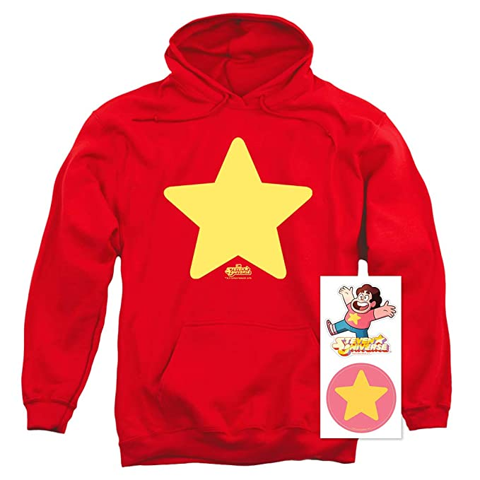 Steven Universe Star Cartoon Network Pullover Hoodie Sweatshirt & Stickers