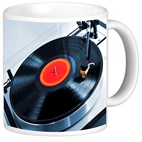 Rikki Knight Photo Quality Ceramic Coffee Mug, 11 oz, Vinyl Record on Turntable from Rikki Knight