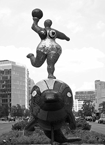 18 x 24 B&W Photo of Colorful art statues, New York Ave., NW, in downtown Washington, D.C. 2010 Highsmith - Ave U Downtown