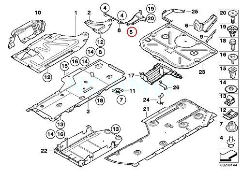 Amazon Com Bmw Genuine Right Extension Underbody Paneling Automotive