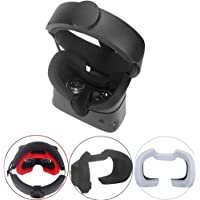 Esimen VR Face Silicone Cover Mask & Face Pad for Oculus Rift S Face Cushion Cover Sweatproof (Black)