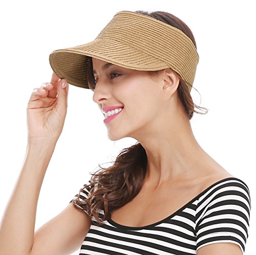 Bellady Women Wide Brim Sun Visor Sports Running - Wide Brim Sun Visor