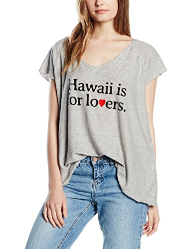 THE HIP TEE, ALISO - Camiseta de manga corta para mujer Gris (Grey Marl Mini Stripes)