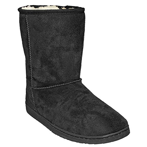 8a3559cc122b DAWGS Womens 9 Inch Faux Shearling Microfiber Vegan Winter Boots