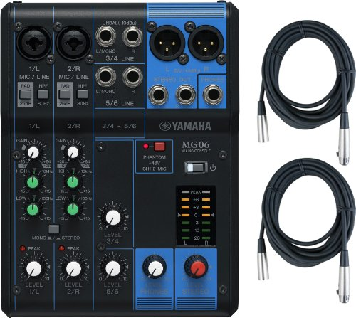 Yamaha MG06 6 Input Stereo Cables