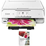 Canon PIXMA TS8020 Wireless All-In-One Printer with Scanner and Copier, White (1369C022) with Corel Paint Shop Pro X9 Digital Download