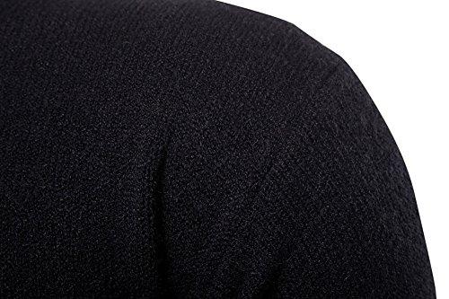 Maglione Maglia Uomo Alto Collo Lunga Slim Da Nero Dolcevita Manica Pullover Fit qq1raBT