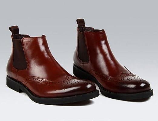 9433373298f3 Herren Lederschuhe Herren Stiefel Herren Lederschuhe Hohe Schuhe Kurze  Stiefel Britischen Stil Martin Stiefel Herrenschuhe ( Farbe   Red-brown ,  größe ...