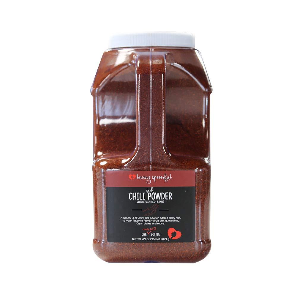 Loving Spoonful 71.4 oz Premium Dark Chili Powder | Food Service 5 lb Size