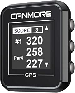 CANMORE H-300 Handheld Golf GPS - Essential Golf Course Data and Score Sheet - Minimalist & User Friendly - 38,000+ Free Courses Worldwide and Growing - 4ATM Waterproof - 1-Year Warranty