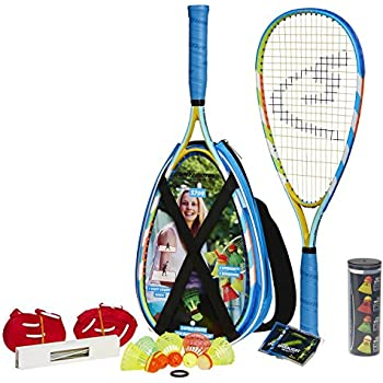 Speedminton S700 Set - Original speed badminton / crossminton all-round set that includes 2 rackets, 5 Speeder tube, Easy Court, bag