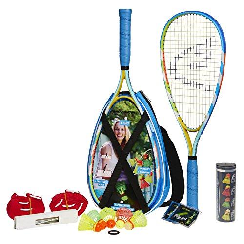 Speedminton S700 Set - Original speed ??badminton / crossminton all-round set that includes 2 rackets, 5 Speeder tube, Easy Court, bag