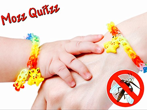 Rainbow Weaved Pokemon Mosquito Repellent Bracelets With Pikachu Charms DEET FREE Wristbands Pack Of 5 By MoZZ - What Pack You When Go Camping To