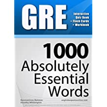 GRE Interactive Quiz Book + Online + Flash Cards/ 1000 Absolutely Essential Words. A powerful method to learn the vocabulary you need.