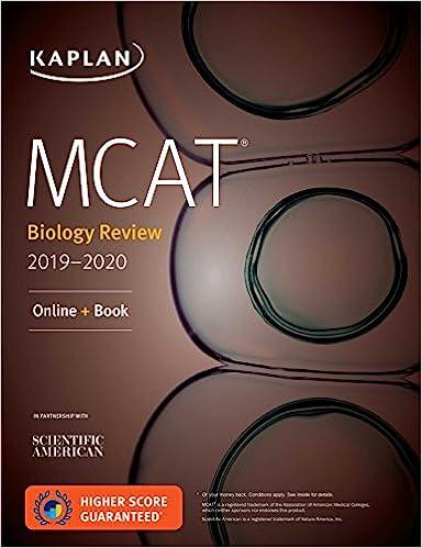 Amazon MCAT Biology Review 2019 2020 Online Book Kaplan Test Prep 9781506235363 Books
