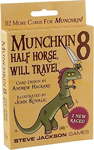 Amazon.com: Steve Jackson Games Munchkin 8 - Half Horse, Will Travel ...