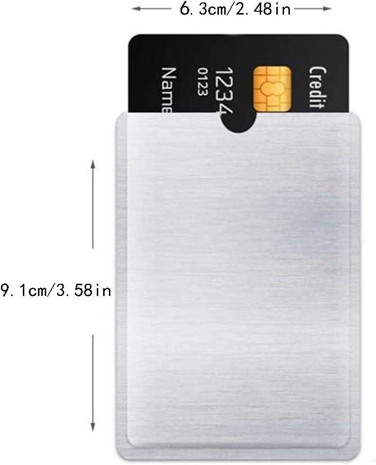 JUSTDOLIFE Blocking Sleeve Anti Theft Credit Card Sleeve Credit Card Protector 60PCS