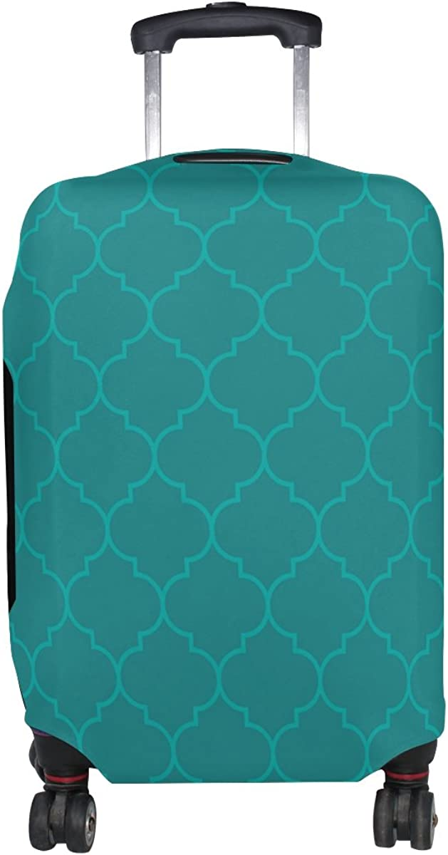 LAVOVO Moroccan Aqua Olive Color Luggage Cover Suitcase Protector Carry On Covers