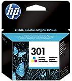 HP 301 Tricromia (CH562EE) Cartuccia Originale per Stampanti HP a Getto di Inchiostro, Compatibile con Stampanti HP DeskJet 1050; 2540 e 3050; HP OfficeJet 2620 e 4630; HP ENVY 4500 e 5530