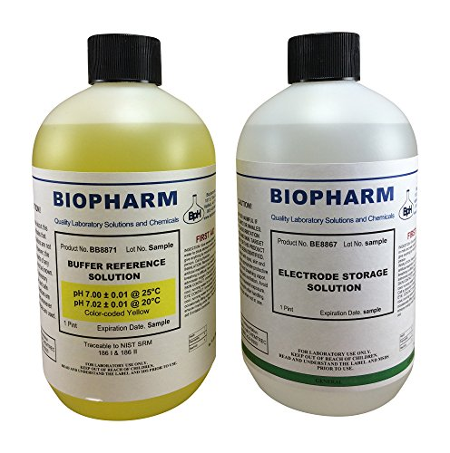(Biopharm pH Calibration Kit (2) 500 ml (16oz) Bottles pH 7.0 Buffer and Electrode Storage Solution NIST Traceable Reference Standard for All pH)