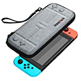 Nintendo Switch Case - innoAura Portable HardShell Slim Travel Carrying Case fit Switch Console & 8 Game Catridges