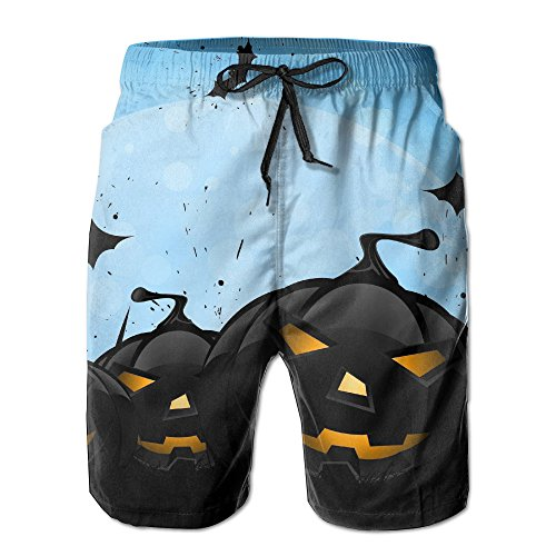 Bxse Spooky Spider Casual Classic Men's Shorts Beach Sport Print Shorts Pants Hot Swimming Trousers Board Shorts With Pockets
